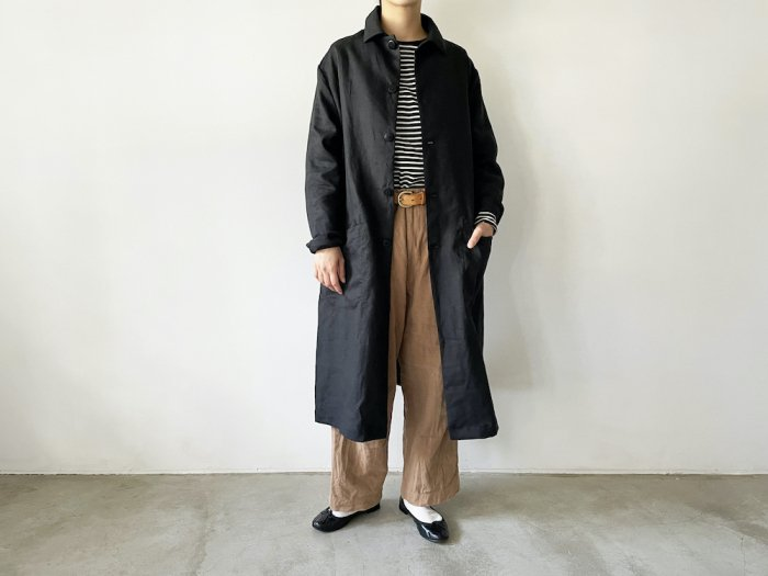 <img class='new_mark_img1' src='https://img.shop-pro.jp/img/new/icons56.gif' style='border:none;display:inline;margin:0px;padding:0px;width:auto;' />linen shop coat / BLACK