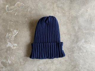 cotton rib knit cap / NAVY
