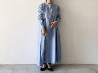linen long one-piece /  SAX