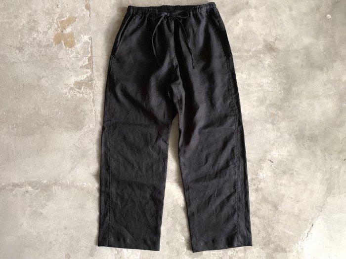 linen easy pants / BLACK