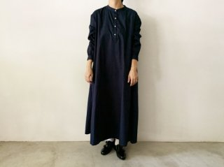 cotton broad long one-piece / NAVY