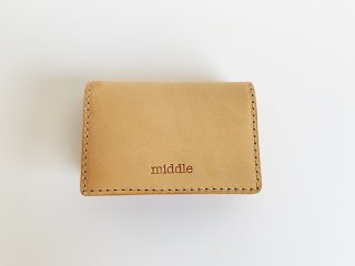 leather card case  / TAN