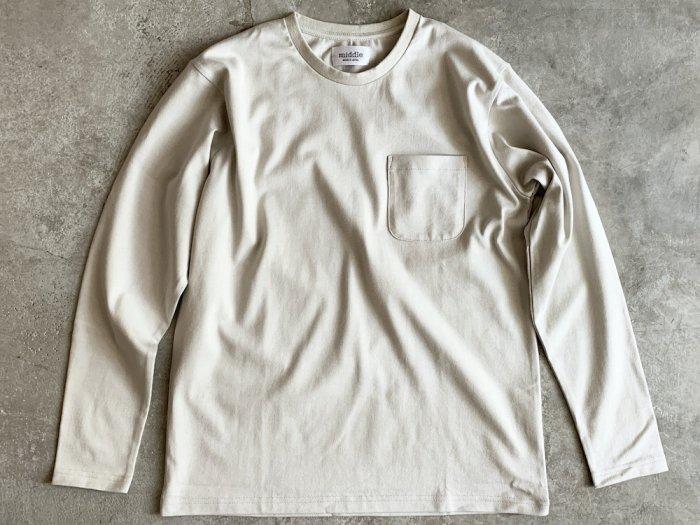 standard poc long sleeve t-shirt / BEIGE