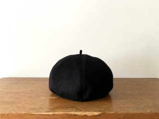 kid's wool beret /BLACK