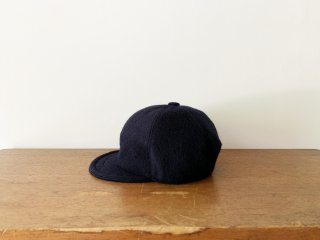 kid's wool bb cap /NAVY
