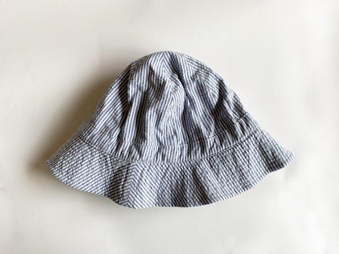 seersucker hat / BLUE