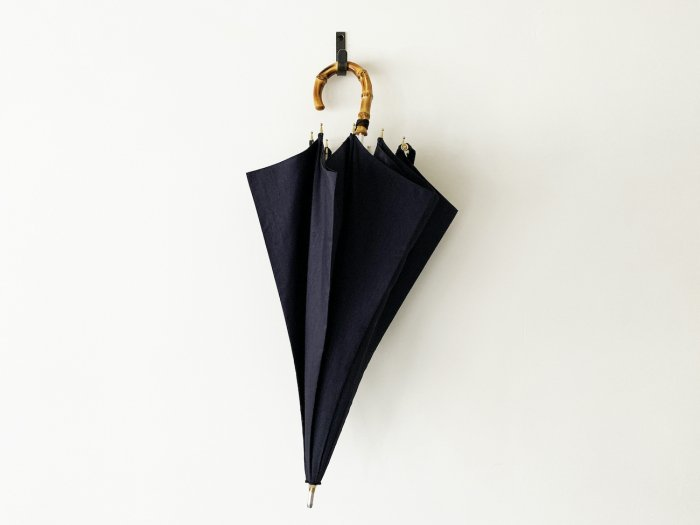 前原光榮商店 short shantung umbrella / NAVY