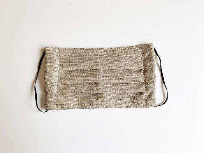 linen mask / BEIGE