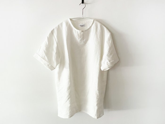 linen short sleeve kurta/  OFF WHITE