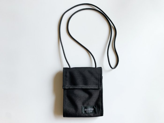 nylon trip wallet / BLACK