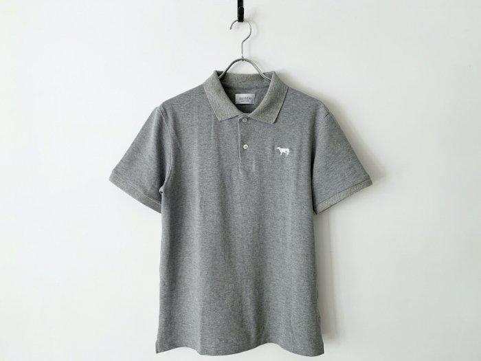 cotton pique polo shirt / GREY