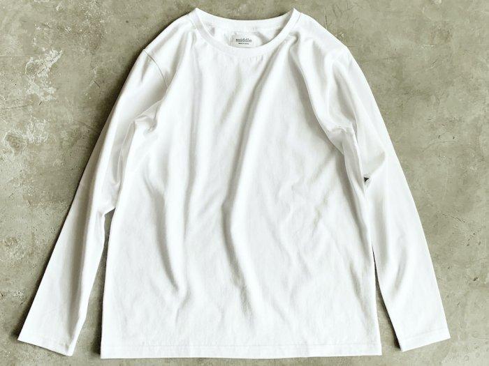 standard long sleeve t-shirt / WHITE