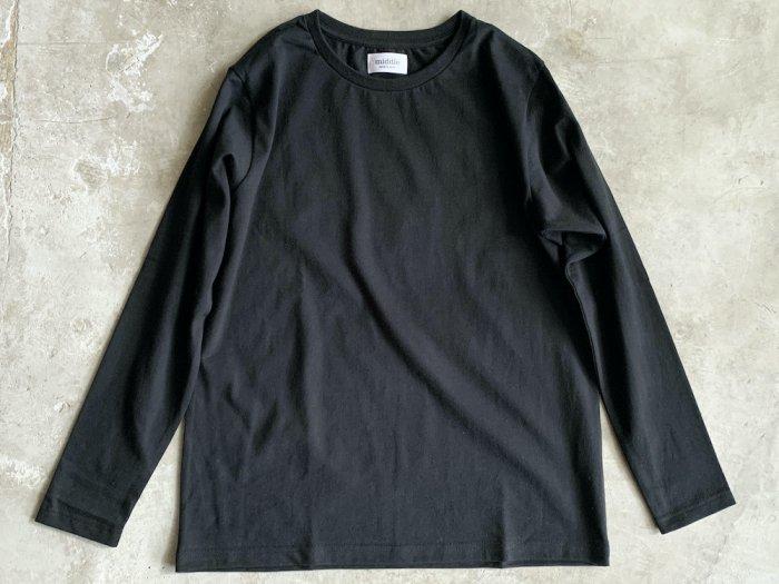 standard long sleeve t-shirt / BLACK