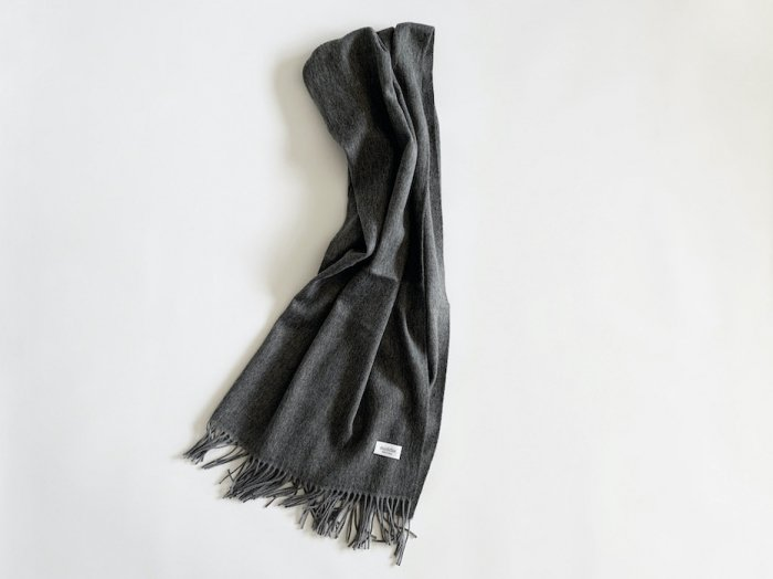 wool cashmere big shawl  /  GREY