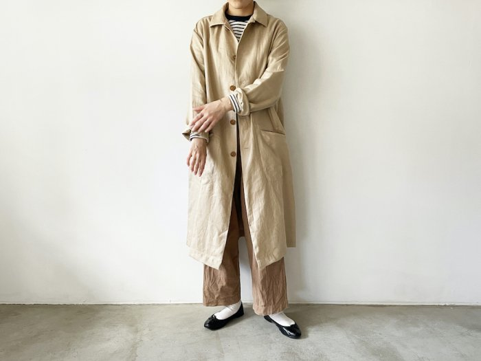 <img class='new_mark_img1' src='https://img.shop-pro.jp/img/new/icons56.gif' style='border:none;display:inline;margin:0px;padding:0px;width:auto;' />linen shop coat / BEIGE
