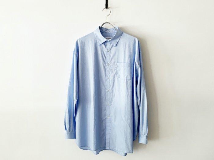 cotton atelier shirt /  SAX