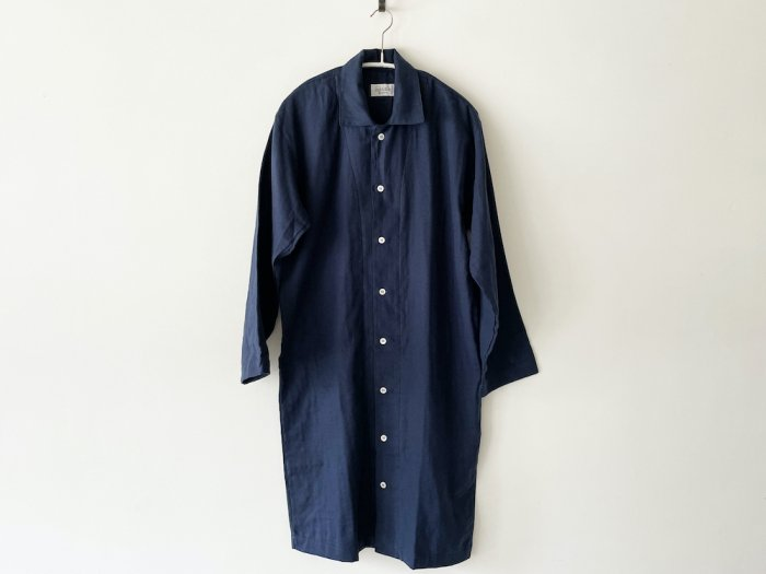 <img class='new_mark_img1' src='https://img.shop-pro.jp/img/new/icons8.gif' style='border:none;display:inline;margin:0px;padding:0px;width:auto;' />double gauze long pajamas / NAVY