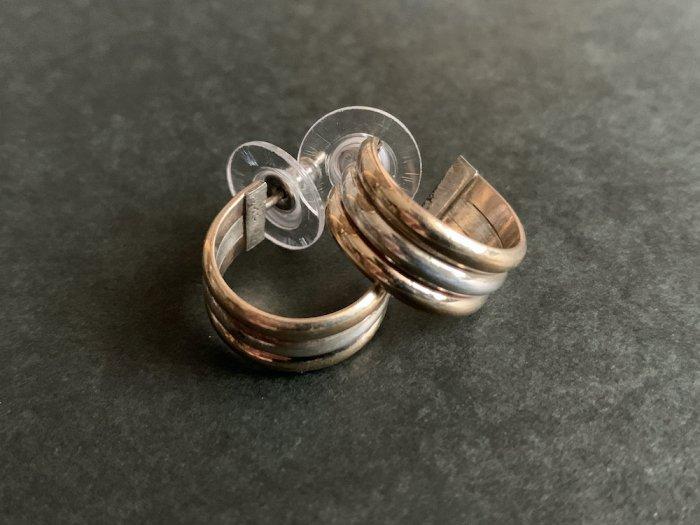 Navajo 12k Gold filled & Silver pierce