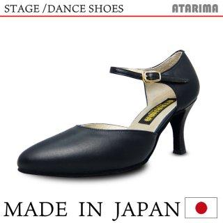 ステージシューズ ダンスシューズ 女性兼用シューズ [モダン&ラテン]【黒】【日本製】【本革】【7.5cmヒール】【キャラクターシューズ、社交ダンス、舞台、ピアノ、演奏、合唱】【納期1〜2ヶ月】 <img class='new_mark_img2' src='https://img.shop-pro.jp/img/new/icons61.gif' style='border:none;display:inline;margin:0px;padding:0px;width:auto;' />
