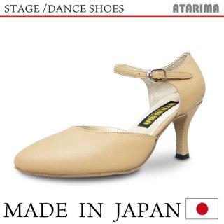 ステージシューズ ダンスシューズ 女性兼用 [モダン&ラテン]【ベージュ】【日本製】【本革】【7.5cmヒール】【キャラクターシューズ、社交ダンス、舞台、ピアノ、演奏、合唱】【納期1〜2ヶ月】  <img class='new_mark_img2' src='https://img.shop-pro.jp/img/new/icons61.gif' style='border:none;display:inline;margin:0px;padding:0px;width:auto;' />