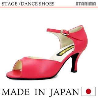 ステージシューズ ダンスシューズ 女性ラテンシューズ 【赤/レッド】【日本製】【本革】【7.5cmヒール】【キャラクターシューズ、社交ダンス、舞台、ピアノ、演奏、合唱】【納期1〜2ヶ月】 <img class='new_mark_img2' src='https://img.shop-pro.jp/img/new/icons61.gif' style='border:none;display:inline;margin:0px;padding:0px;width:auto;' />
