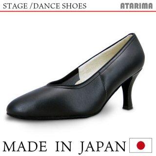 ステージシューズ ダンスシューズ 女性モダンシューズ【黒】【日本製】【本革】【7.5cmヒール】【キャラクターシューズ、社交ダンス、舞台、ピアノ、演奏、合唱】【納期1〜2ヶ月】 <img class='new_mark_img2' src='https://img.shop-pro.jp/img/new/icons61.gif' style='border:none;display:inline;margin:0px;padding:0px;width:auto;' />