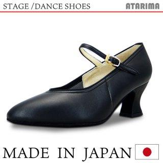 ステージシューズ ダンスシューズ 女性モダンシューズ【黒】【日本製】【本革】【6cmラウンドヒール】【キャラクターシューズ、社交ダンス、舞台、ピアノ、演奏、合唱】【納期1〜2ヶ月】 <img class='new_mark_img2' src='https://img.shop-pro.jp/img/new/icons61.gif' style='border:none;display:inline;margin:0px;padding:0px;width:auto;' />
