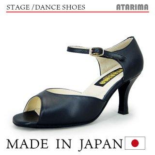 ステージシューズ ダンスシューズ 女性ラテンシューズ 【黒/ブラック】【日本製】【本革】【7.5cmヒール】【キャラクターシューズ、社交ダンス、舞台、ピアノ、演奏、合唱】【納期1〜2ヶ月】 <img class='new_mark_img2' src='https://img.shop-pro.jp/img/new/icons61.gif' style='border:none;display:inline;margin:0px;padding:0px;width:auto;' />