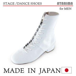 ジャズブーツ ジャズダンスシューズ ステージシューズ【日本製】【男性用】【白/ホワイト】【本革】【4cmヒール】【ハイカット】【舞台、各種ダンス】【納期1〜2ヶ月】<img class='new_mark_img2' src='https://img.shop-pro.jp/img/new/icons61.gif' style='border:none;display:inline;margin:0px;padding:0px;width:auto;' />
