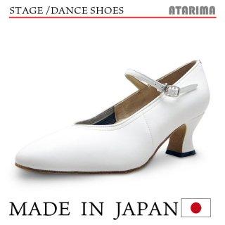 ステージシューズ ダンスシューズ 女性モダンシューズ【白】【日本製】【本革】【6cmラウンドヒール】【キャラクターシューズ、社交ダンス、舞台、ピアノ、演奏、合唱】【納期1〜2ヶ月】 <img class='new_mark_img2' src='https://img.shop-pro.jp/img/new/icons61.gif' style='border:none;display:inline;margin:0px;padding:0px;width:auto;' />