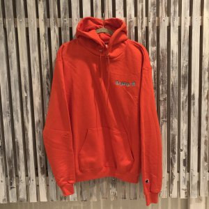 Stepping Razor Legalize It champion hoodie(バックプリント有)Orange