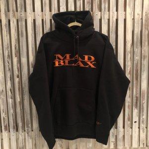 MAD BLAX Embroidery hoodie(Black×Orenge)