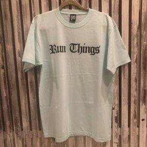 BLAX  Run Things Tshirts(Aqua Blue)