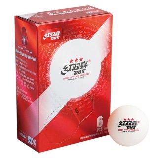 紅双喜 卓球ワールドツアー2019 国際公認球  3スターボール 6球入(2019 ITTF World Tour T.T. D40+ 3 Stars Ball)