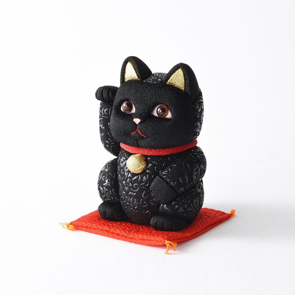 招き猫 小(花唐草小)