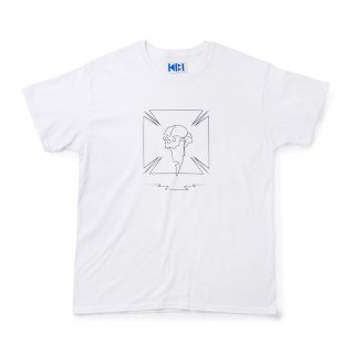 髑髏 TEE【WHITE】