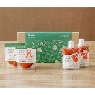 【ギフト可】有機トマトジュース パウチ4個セット