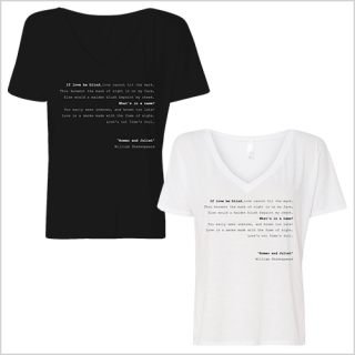 『ロミオとジュリエット』原文Tシャツ