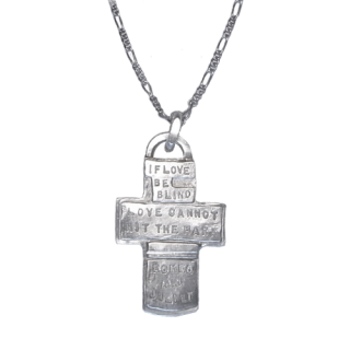 『ロミオとジュリエット』十字架シルバーネックレス