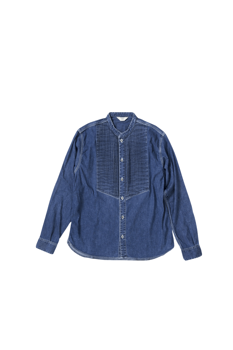 USED STRETCH PIN TUCK SHIRT