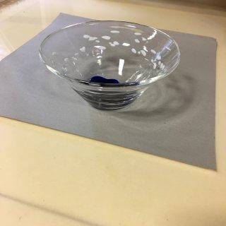 工芸ガラス 氷小鉢」