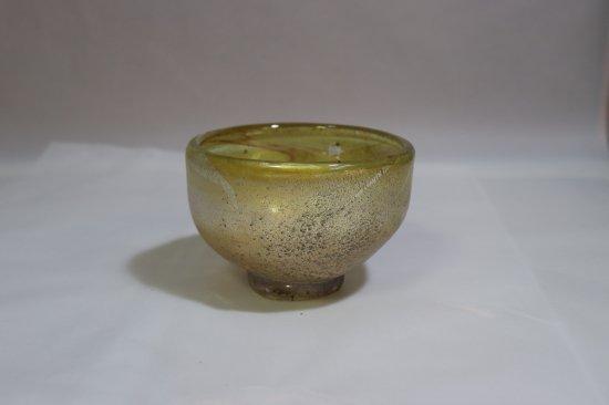 耐熱吹きガラス 抹茶碗 「銀箔彩抹茶碗」