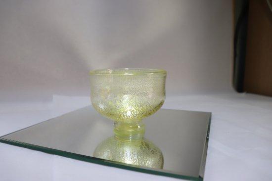 耐熱吹きガラス 抹茶碗 「銀箔彩抹茶碗」【画像2】