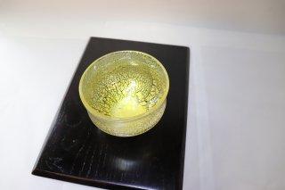 工芸ガラス 耐熱吹きガラス 抹茶碗 「銀箔彩抹茶碗」