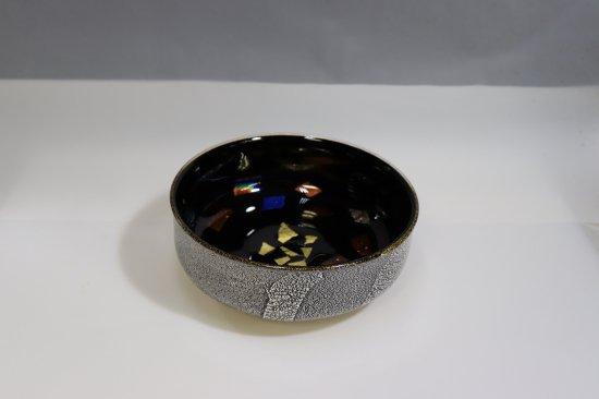 銀彩ダイクロ平鉢
