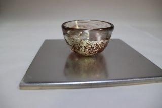 茶道具 <span>( 硬質硝子 )</span> 銀彩紅斑点硬質 ぐい呑