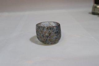 工芸ガラス <span>( Craft Glass )</span> 宙吹硝子赤金斑紋 ぐい呑み