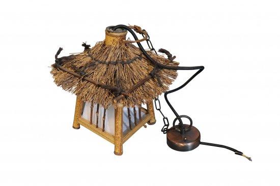 レトロ 和風吊り灯篭 竹製【画像2】