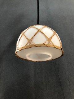 レトロ照明器具 レトロ和風竹編みペンダント(8インチ)