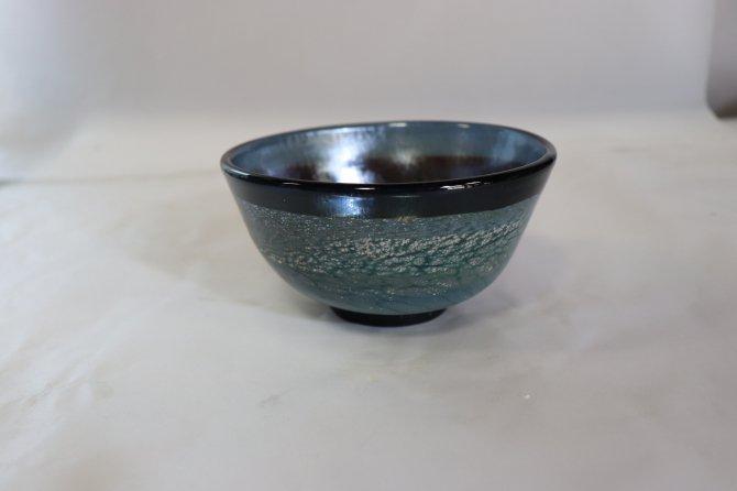 耐熱吹きガラス 抹茶碗 「熔彩変抹茶碗」